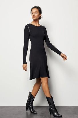 Karen Millen Chain-Detail Knit Dress