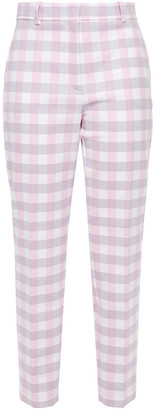 Emilio Pucci Cropped Gingham Twill Tapered Pants