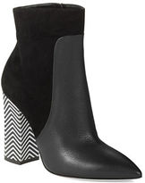 Pollini Patterned Heel Booties