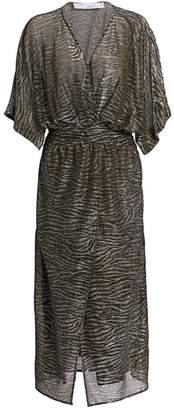 IRO Volsun Metallic Midi Dress