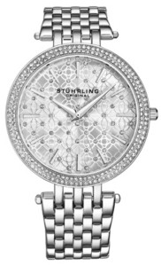 Stuhrling Original Women's Silver Tone Stainless Steel Bracelet Watch 39mm