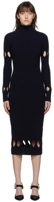 Victoria Beckham Navy Fitted Dress