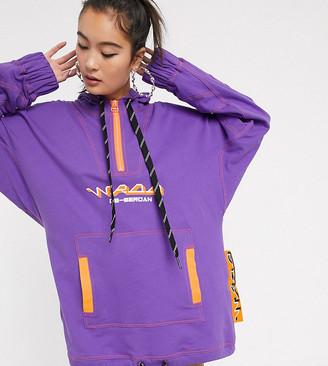 DB Berdan oversized hoodie with chunky rope detail