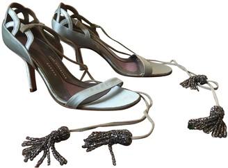 Anya Hindmarch Blue Cloth Sandals