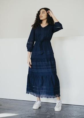 Thought - Organic Cotton Viena Summer Dress In Dark Navy - 6