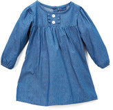 Sweet & Soft Light Blue Denim Polka Dot Button-Front Dress - Infant & Toddler