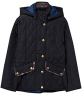 Barbour Navy Impeller Quilted Jacket with Floral Trims