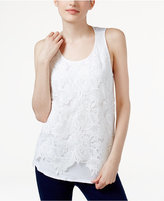 INC International Concepts Lace-Front Tank Top, Only at Macy's