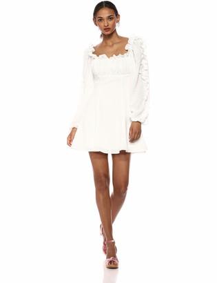C/Meo Women's Perfect Part Long Sleeve Babydoll Short Mini Dress