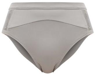 adidas by Stella McCartney High-rise Bikini Briefs - Grey