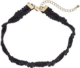 Steve Madden Rope Knot Textured Choker Necklace Necklace