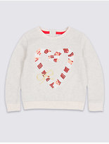 Marks and Spencer Cotton Rich Sweatshirt (3 Months - 6 Years)