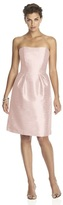 Alfred Sung D614 Bridesmaid Dress in Pearl Pink