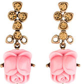 Oscar de la Renta Resin Flower Drop Earrings