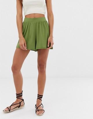 Asos Design DESIGN culotte shorts-Green