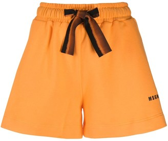 MSGM Drawstring-Waist Track Shorts