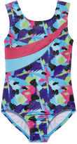 Jacques Moret Jacques Mort Sleeveless Spotted Strokes Printed Leotard - Girls 7-16