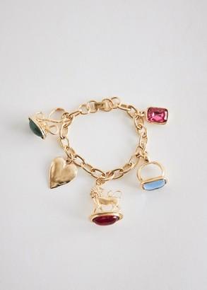 Mondo Mondo Women's Lion Fob Bracelet in Brass