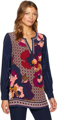 Trina Turk Women's Lotta Fairfax Floral Placed Print Tunic