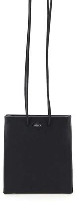 Medea SHORT PRIMA BAG WITH LONG STRAP OS Black Leather
