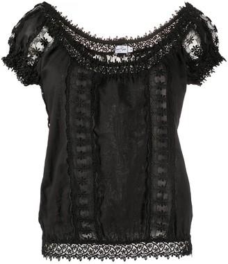 Charo Ruiz Ibiza floral lace detailed T-shirt