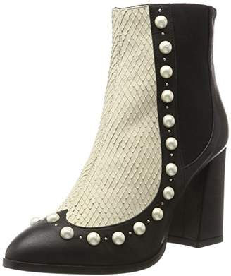 Oxitaly Women's GLORIA 356 Chelsea Boots Chelsea Boots, Black (NERO NERO), 39
