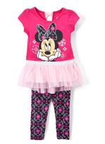 Children's Apparel Network Pink Knit Dress & Leggings - Infant, Toddler & Girls