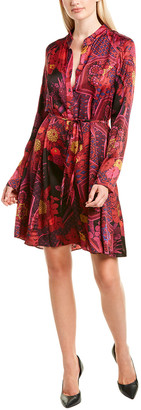 Josie Natori Garden Tapestry Shirtdress