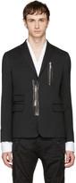 DSQUARED2 Black Zipped Blazer
