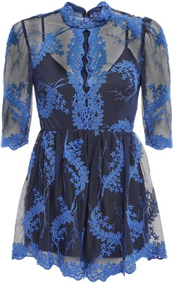 Alice McCall Honeymoon Embroidered Tulle Playsuit