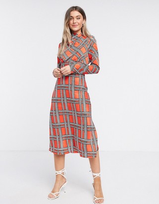 Finery Portland Printed Midi Dress