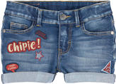 Chipie Stone-washed jean shorts