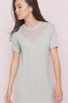 Garage Mesh Front T-Shirt Dress