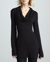 Splendid Long-Sleeve Cowl-Neck Top