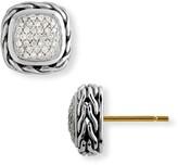 John Hardy 'Classic Chain' Small Square Pave Diamond Earrings