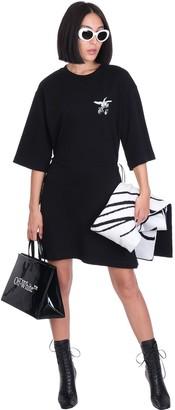 Off-White Dress In Black Cotton