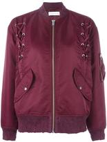 IRO Ilisa lace-up bomber jacket - women - Polyester/Nylon - 34