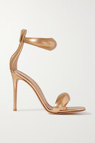 Thumbnail for your product : Gianvito Rossi Bijoux 105 Metallic Leather Sandals - Gold