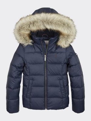 Tommy Hilfiger Essential Quilted Down-Filled Hooded Jacket