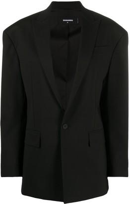 DSQUARED2 Extended-Shoulder Single-Breasted Blazer