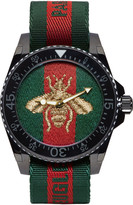 Gucci Green & Red Web Bee Dive Watch