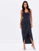Shona Joy Cowl Draped Dress