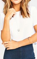 MUMU Shannon's Lucky Horseshoe Necklace