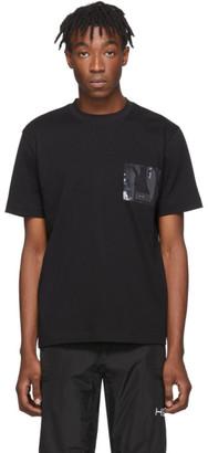 Heliot Emil Black PVC Pocket T-Shirt
