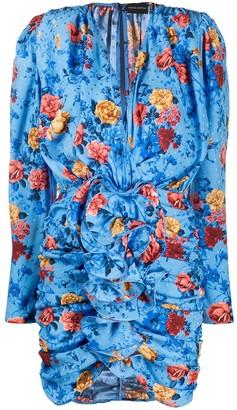 Magda Butrym Silk Gathered Ruffle Dress
