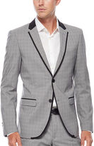 Asstd National Brand WD.NY Gray Plaid Suit Jacket - Slim Fit