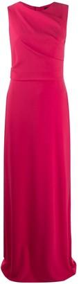 Paule Ka Draped Front Evening Dress