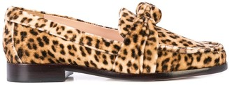 Loeffler Randall Elina leopard loafers