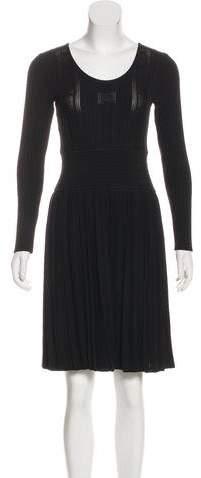 Chanel Pleated Knit Dress