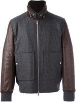 Brunello Cucinelli contrast sleeve bomber jacket